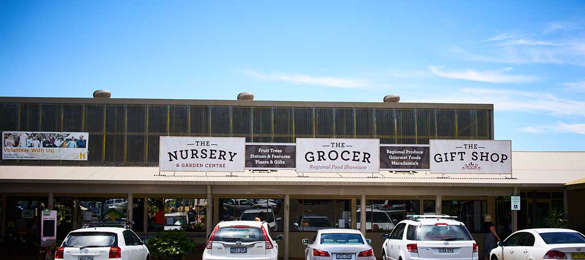 An outside view of The Grocer shop at Summerland House Farm