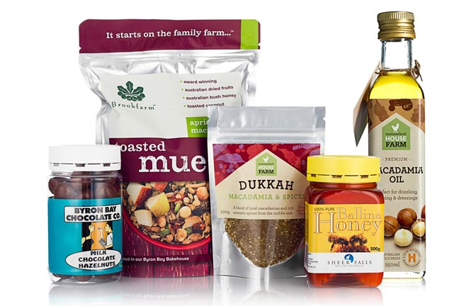 A hamper of healthy breakfast foods