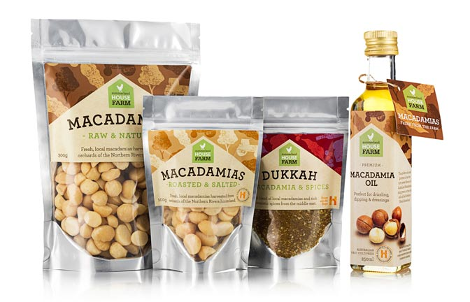 Packaged macadamia nuts and oil